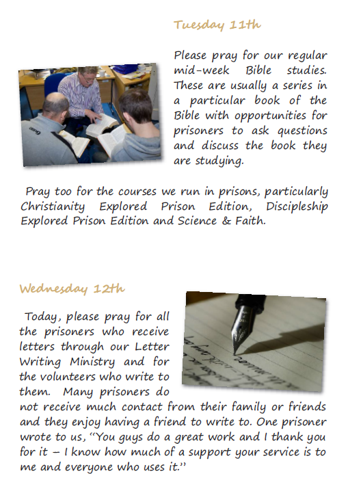 Prisons Week Prayer Diary for Website Pg 2